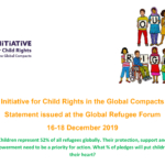 Initiative for Child Rights in the Global Compacts Statement issued at the Global Refugee Forum 16-18 December 2019